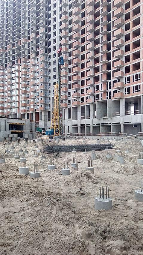 Строительство ЖК, 4, 5, 6 секции (фото 1)