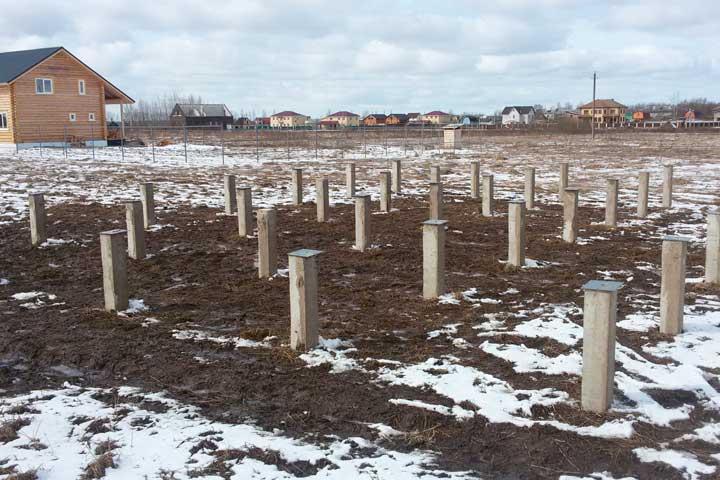 Олимпия Билд: строительство свайного фундамента (Киевская область)