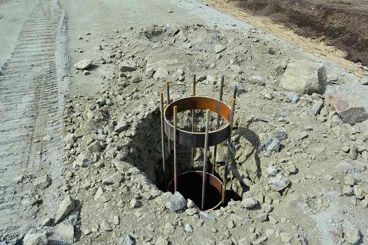 Олимпия Билд: фундамент на буронабивных сваях в Киевской области