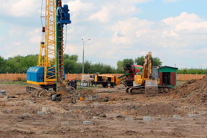 Олимпия Билд: усиление фундаментов микросваями в Киеве
